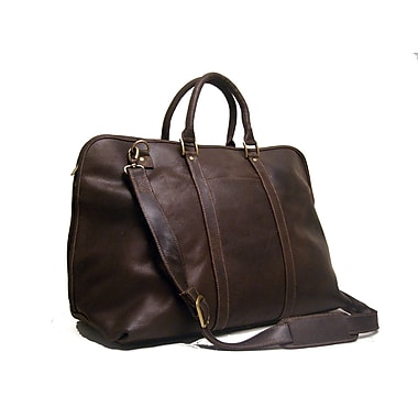 Le Donne Leather 25'' Distressed Leather Getaway Travel Duffel; Chocolate