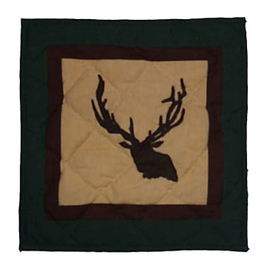 Patch Magic Elk Trail Cotton Throw Pillow