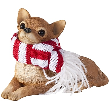 Sandicast Chihuahua Christmas Tree Ornament; Tan