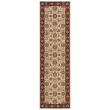 Nourison Persian Crown Cream/Brown Area Rug; Runner 2'2'' x 7'6''