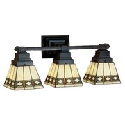 Meyda Tiffany Diamond Mission 3 Light Vanity Light