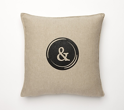 Corona Decor Linen Retro Typewriter Font Linen Throw Pillow; &