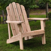 Shine Company Inc. Marina Adirondack Chair; Natural