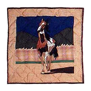 Patch Magic Wild Horses Cotton Throw Pillow