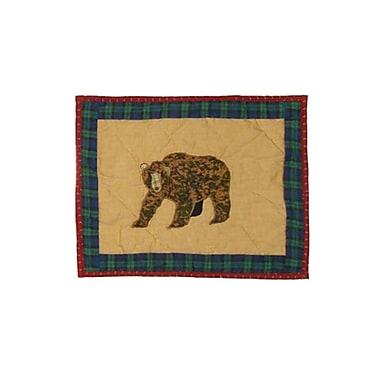 Patch Magic Cabin Bear Crib Cotton Boudoir/Breakfast Pillow