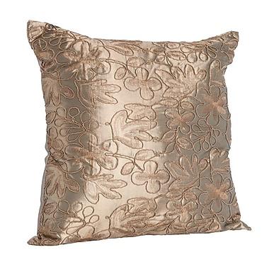 Saro Throw Pillow; Khaki