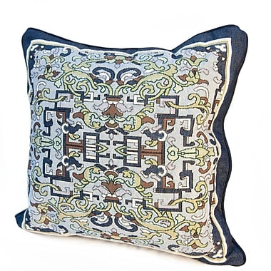 Rennie & Rose Design Group Arts and Crafts Asian Ornament Throw Pillow