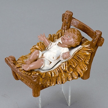 Fontanini 12'' Scale Infant Jesus w/ Crib