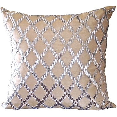 Debage Inc. Bling Crystal Diamond Throw Pillow; Champagne