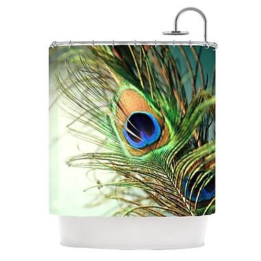 KESS InHouse Peacock Feather Shower Curtain
