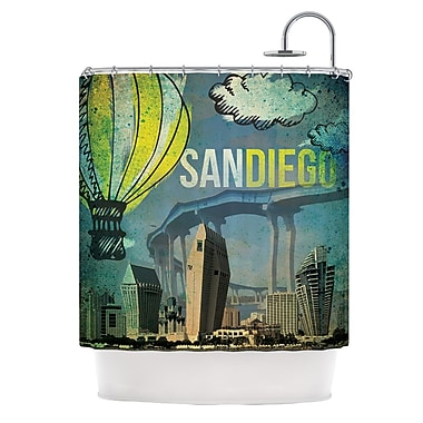 KESS InHouse San Diego Shower Curtain