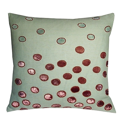 Kevin O'Brien Studio Ovals Embellished Throw Pillow; Topaz