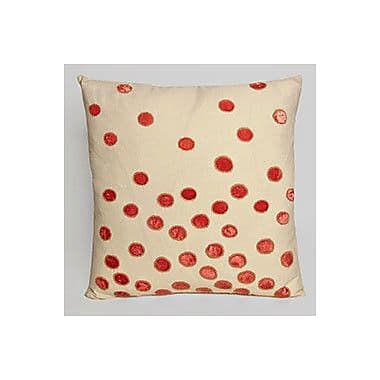 Kevin O'Brien Studio Ovals Embellished Throw Pillow; Coral