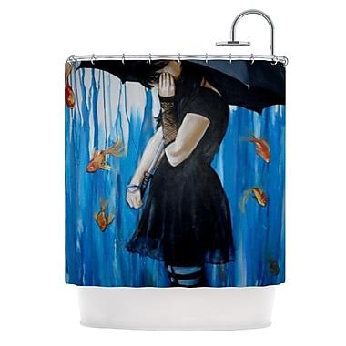 KESS InHouse Sink or Swim Shower Curtain