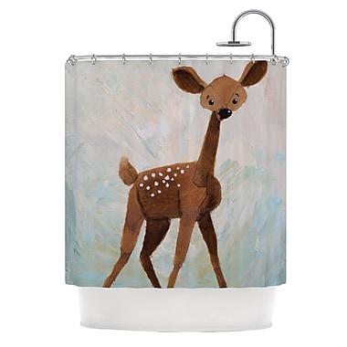 KESS InHouse Oh Deer Shower Curtain