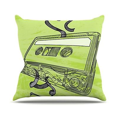 KESS InHouse Mixtape Throw Pillow; 26'' H x 26'' W