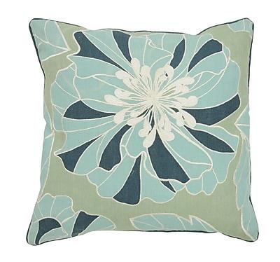 Kosas Home Seafarer Blooming Linen Throw Pillow