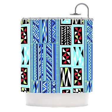 KESS InHouse American Blanket Pattern Shower Curtain