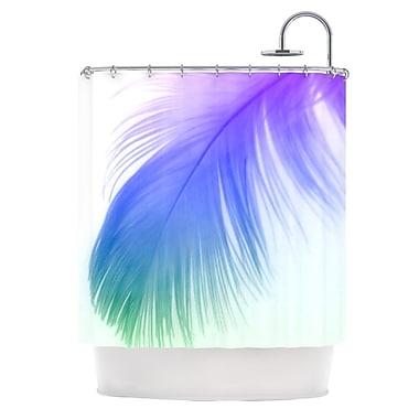 KESS InHouse Feather Shower Curtain