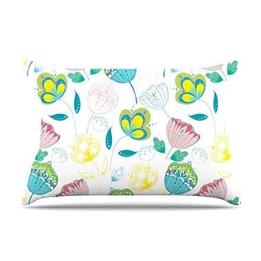 KESS InHouse Indie Floral Pillowcase; Standard