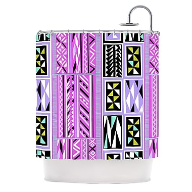 KESS InHouse American Blanket Pattern II Shower Curtain