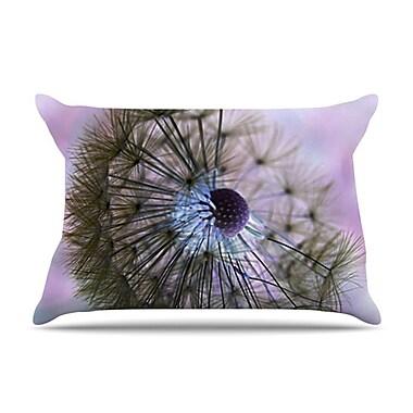 KESS InHouse Dandelion Clock Pillowcase; Standard