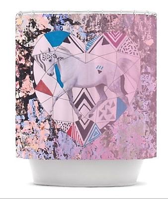KESS InHouse Unicorn Shower Curtain
