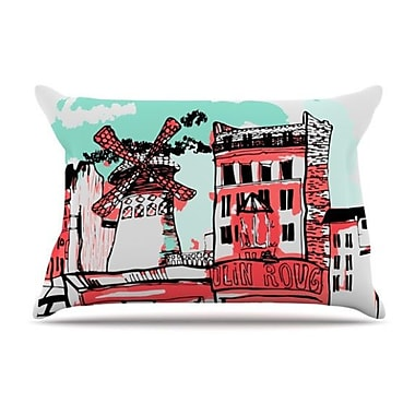 KESS InHouse Montmartre Pillowcase; King
