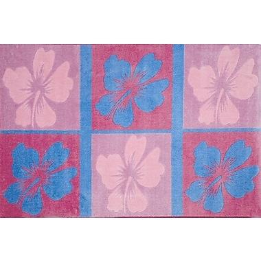 Fun Rugs Supreme Hula Dream Flower Pink/Blue Area Rug; 3'3'' x 4'10''
