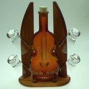 Womar Glass Carafe 5 Piece Contrabass and Shot Glass Set