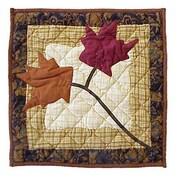 Patch Magic Autumn Leaves Cotton Throw Pillow