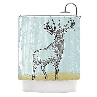 KESS InHouse Elk Scene Shower Curtain