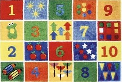 Fun Rugs Supreme Numbers Block Area Rug; 3'3'' x 4'10''