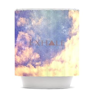 KESS InHouse Exhale Shower Curtain