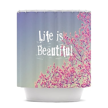 KESS InHouse Life Is Beautiful Shower Curtain