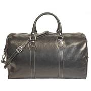 Tony Perotti Amato 20'' Itallian Leather Weekender Duffel; Black