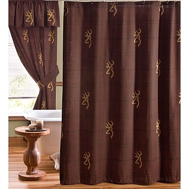 Browning Buckmark Cotton Shower Curtain