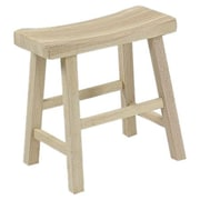 International Concepts Unfinished Wood 18'' Bar Stool