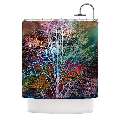 KESS InHouse Trees in the Night Shower Curtain