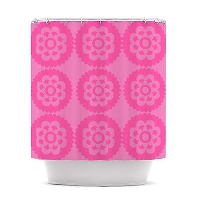 KESS InHouse Moroccan Shower Curtain; Pink