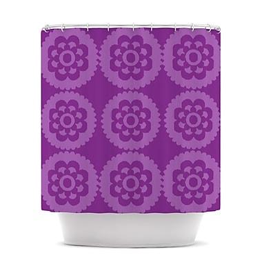 KESS InHouse Moroccan Shower Curtain; Purple