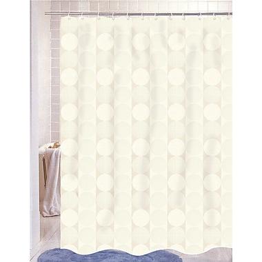Carnation Home Fashions Jacquard Shower Curtain; Ivory