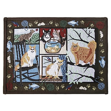 Park B Smith Ltd PB Paws & Co. Woodland Cat Days Tapestry Area Rug; Rectangle 1'1'' x 1'7''