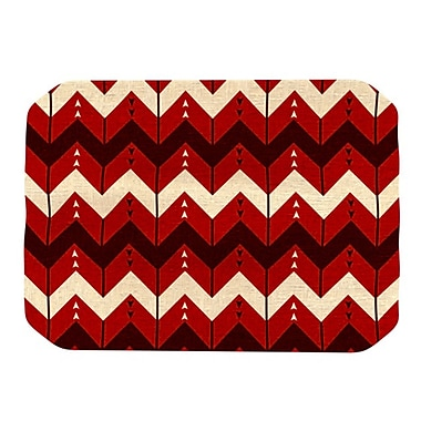 KESS InHouse Chevron Dance Placemat; Red
