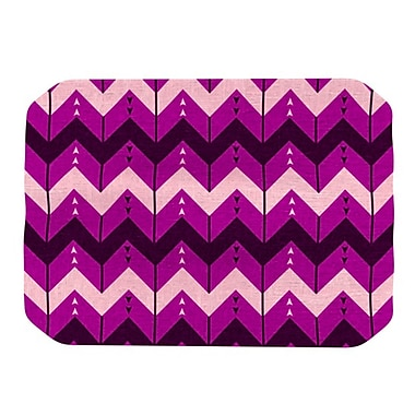 KESS InHouse Chevron Dance Placemat; Purple