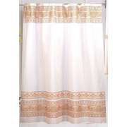 Carnation Home Fashions Fleur Shower Curtain; Gold