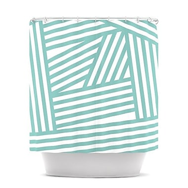 KESS InHouse Stripes Shower Curtain