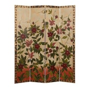 Screen Gems 73'' x 72'' Sweet Nectars Screen 4 Panel Room Divider