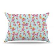 KESS InHouse Paper Flower Pillowcase; Standard