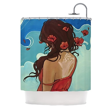 KESS InHouse Sea Swept Shower Curtain